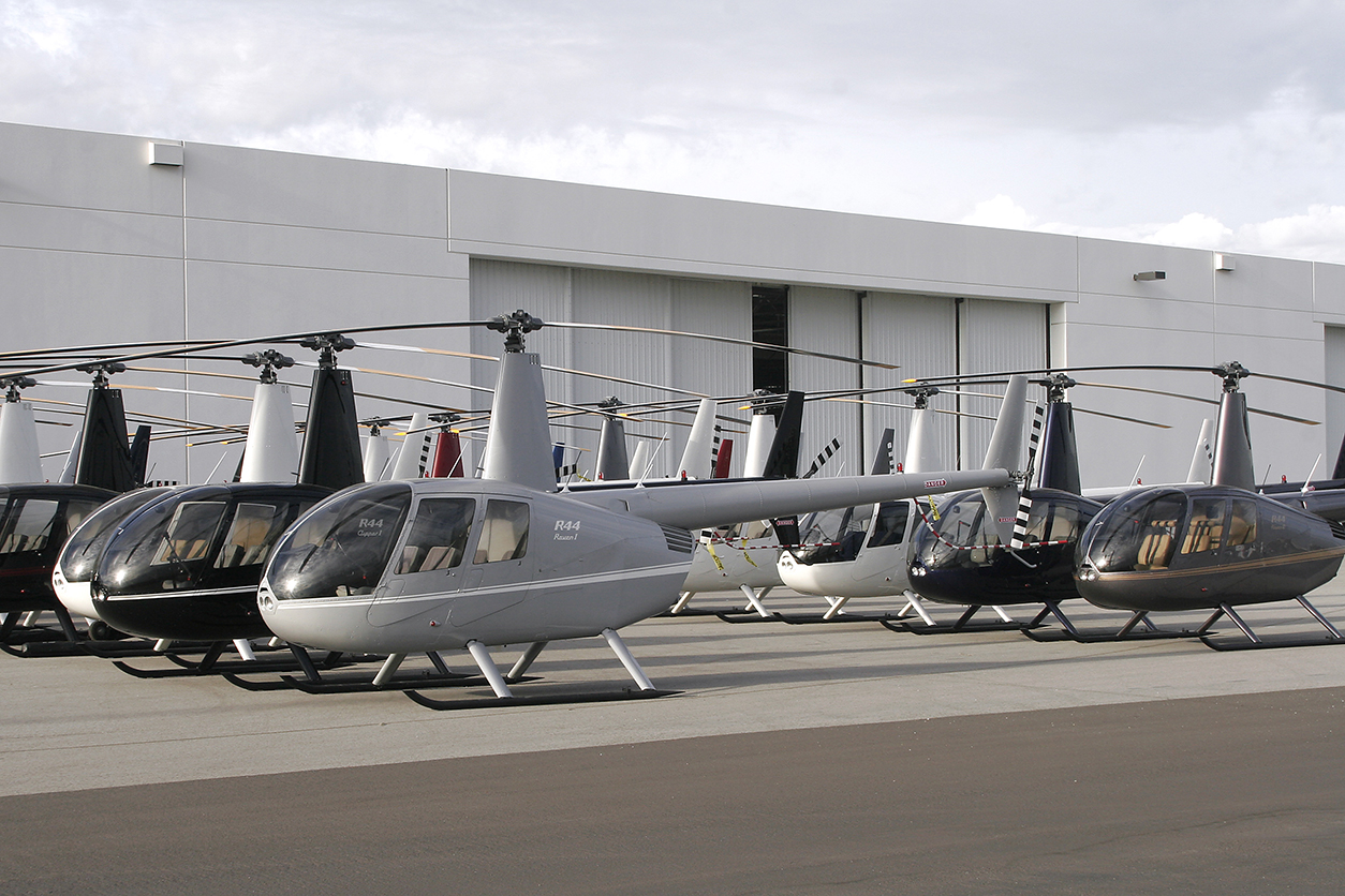 R44s Lined Up In Front of Delivery Center Photo 1