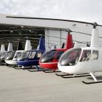 R44s Lined Up In Front of Delivery Center Photo 2