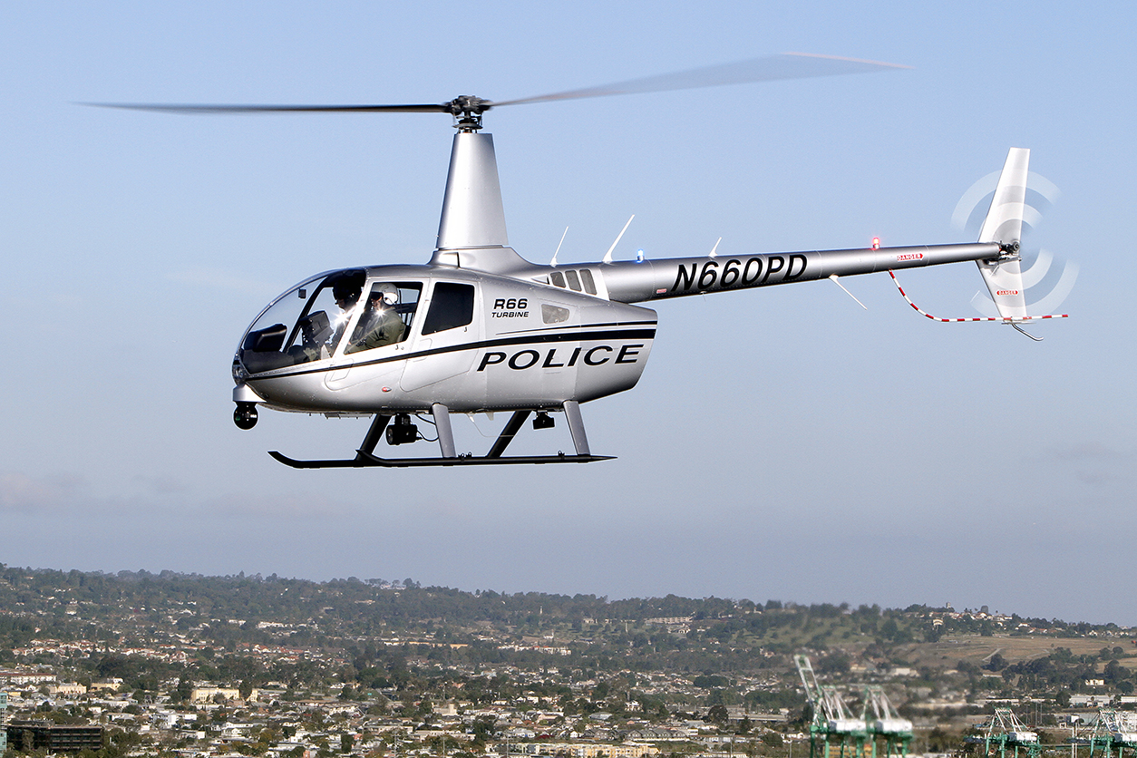 FAA Certifies Robinson R66 Police Helicopter - Robinson Helicopter on guimbal cabri g2, enstrom 480 helicopter, robinson helicopter medical, eurocopter ec 135, boeing ah-6, enstrom f-28, schweizer 300c, bell helicopter, agustawestland aw119, eurocopter ec 155, md helicopters md 600, eurocopter group, robinson helicopter logo, eurocopter ec 130, eurocopter x3, robinson helicopter company, robinson r22, eurocopter dauphin, robinson helicopter factory, r44 raven ii helicopter, ah-1z viper, eurocopter ec145, robinson r44,