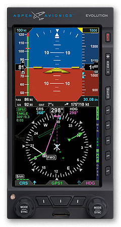 Aspen primary flight display EFD1000H Pilot Pro with HSI (requires GPS)