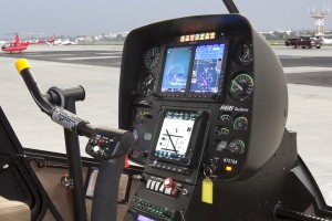 Garmin G500H Installed in R66 Turbine Side View