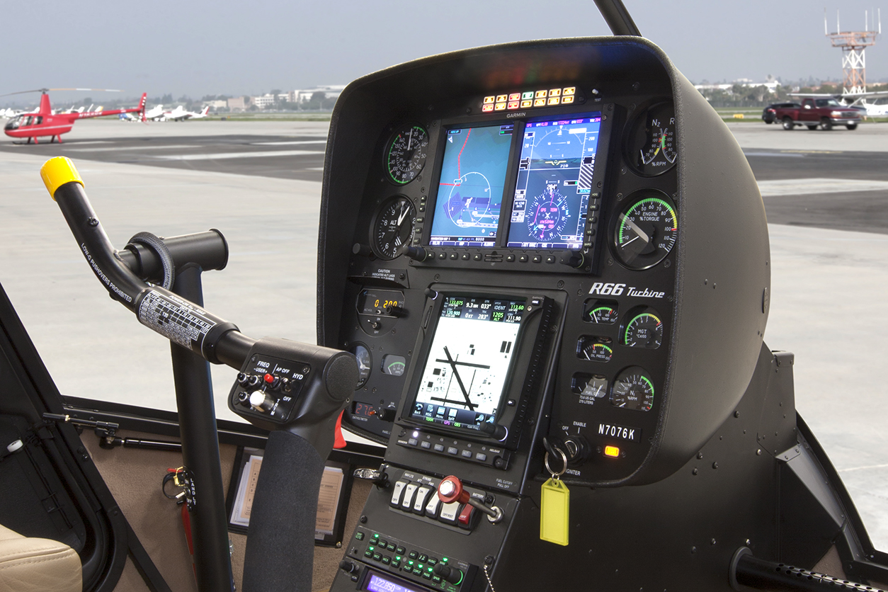 Robinson Adds Garmin G500H and Autopilot to R66 Options - Robinson