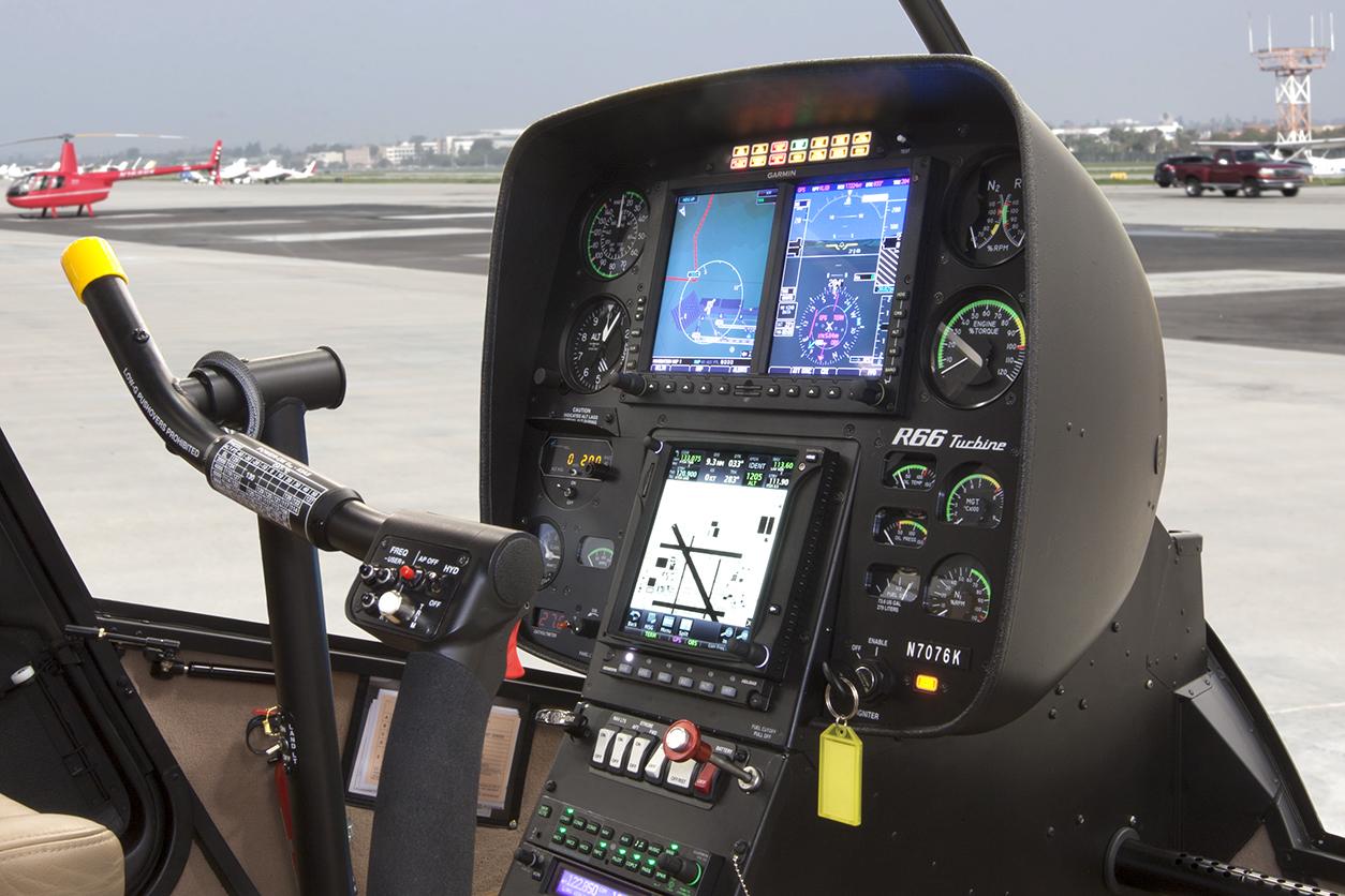 Garmin G500H Installed in R66 Turbine Side View