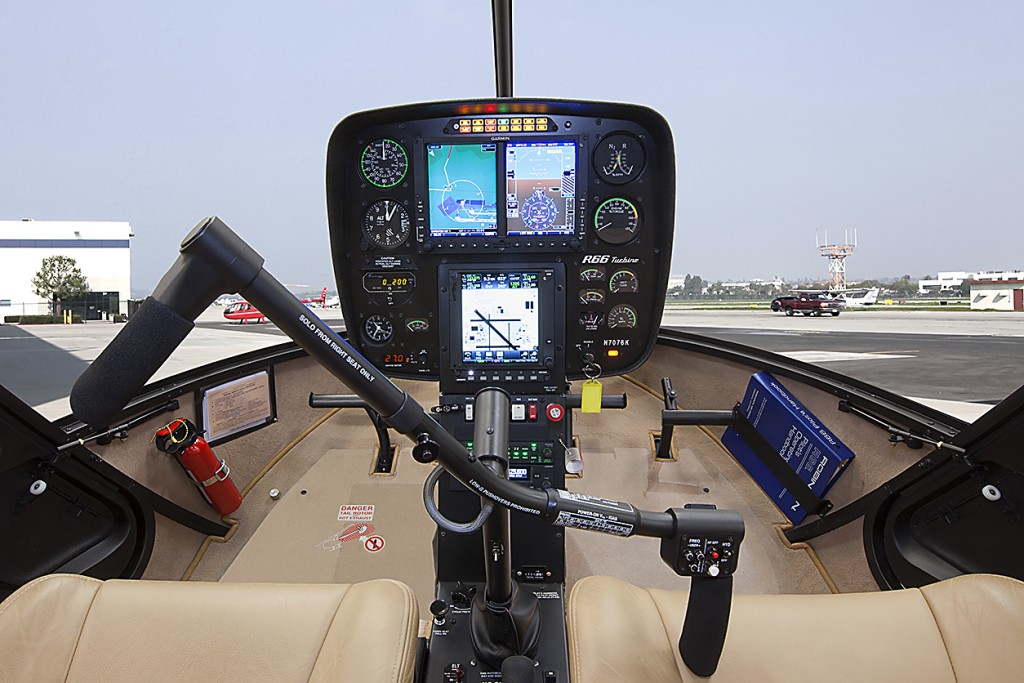 Garmin G500H Installed in R66 Turbine Straight On View
