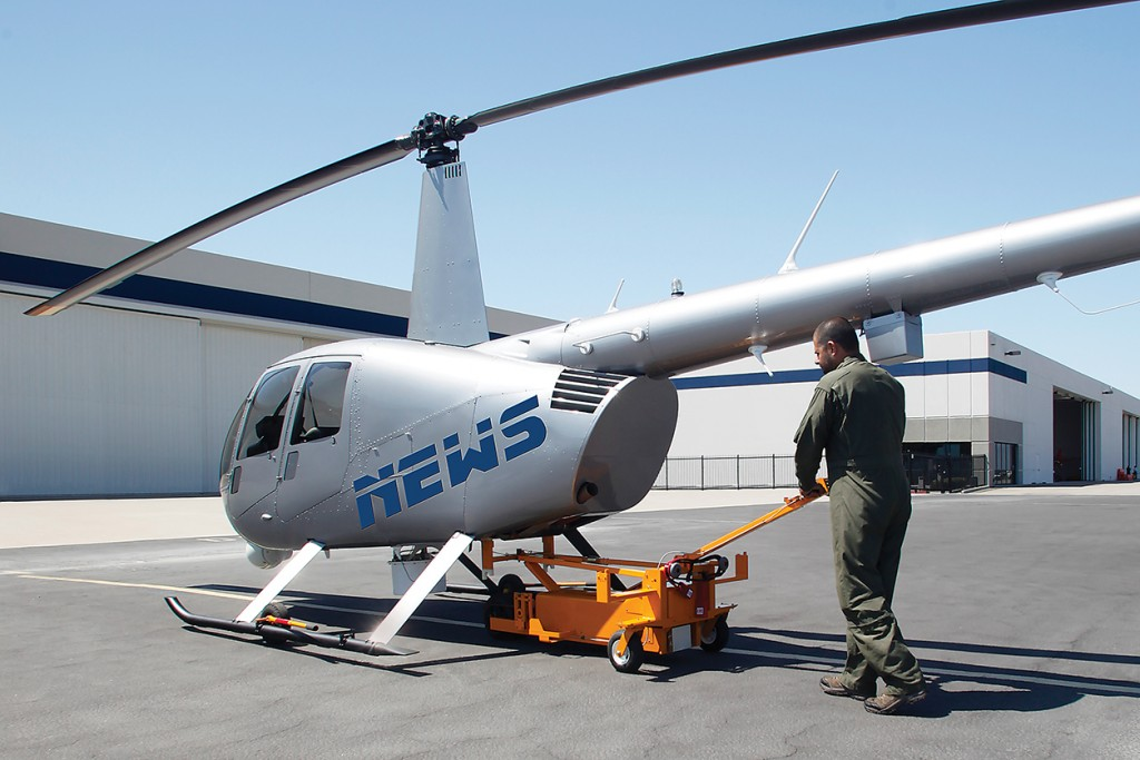 pilot using mt950 rear lift kit with ground handling wheels