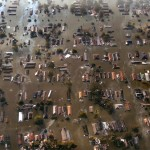 New Orleans Hurricane Flood Aerial View