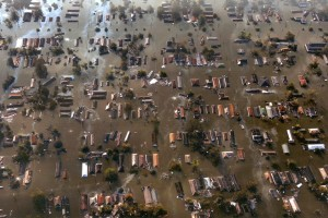 New Orleans Hurricane Flood Aerial View