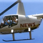 Pool Photographers in Newscopter Over New Orleans