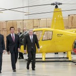 President Bush, Governor Schwarzenegger, and Frank Robinson in Flight Test
