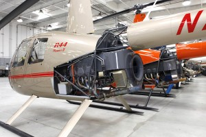 R44 Raven 2 Engine Exposed