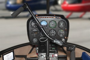 r44 raven II removable left seat flight controls