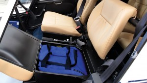 r44 underseat storage