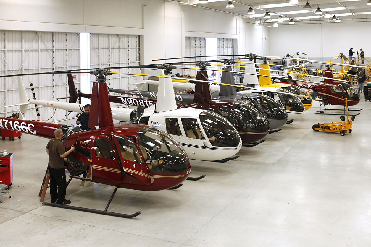 Helicopters lined up in Flight Test