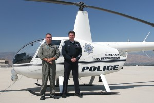 San Bernardino Police Personnel with Police Helicopter