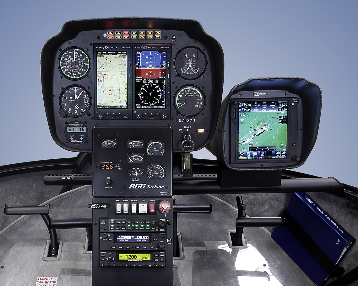 robinson introduces glass avionics