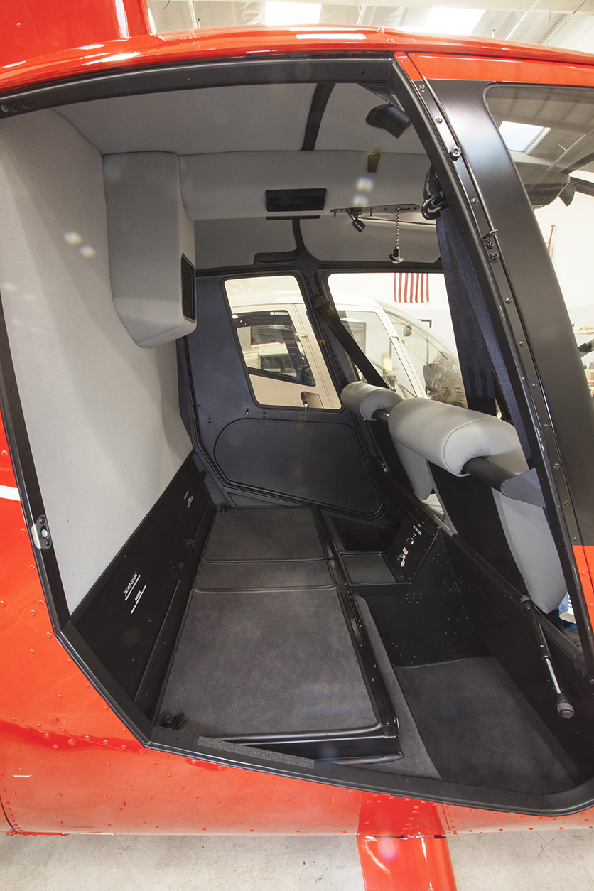 r44 cadet cargo compartment