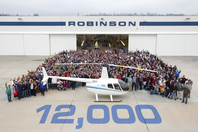 robinson helicopter company delivers 12,000th helicopter