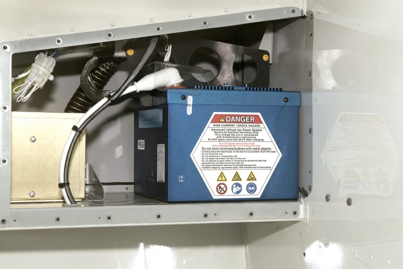 True Blue Power TB17 Lithium-ion battery installed in R66