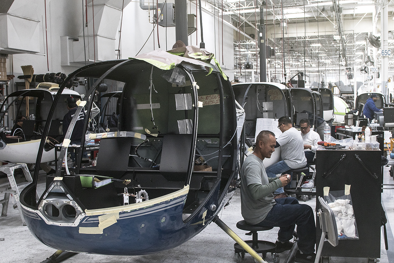 R44 final assembly line