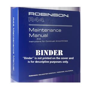 r44 maintenance manual binder