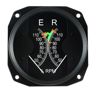 r44 raven 2 rotor engine dual tachometer
