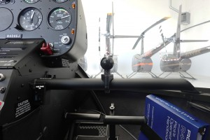 pilot side accessory bar with ball