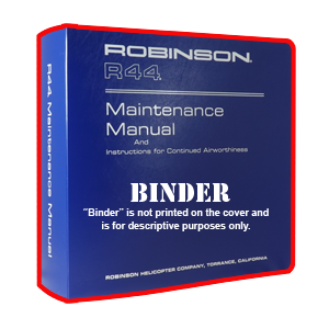 discontinued r44 maintenance manual binder