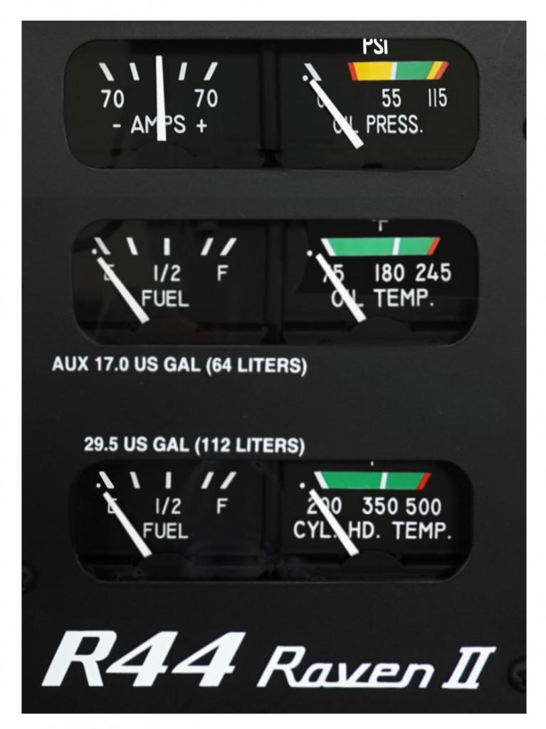 r44 raven 2 standard gage panel oil temperature cylinder head
